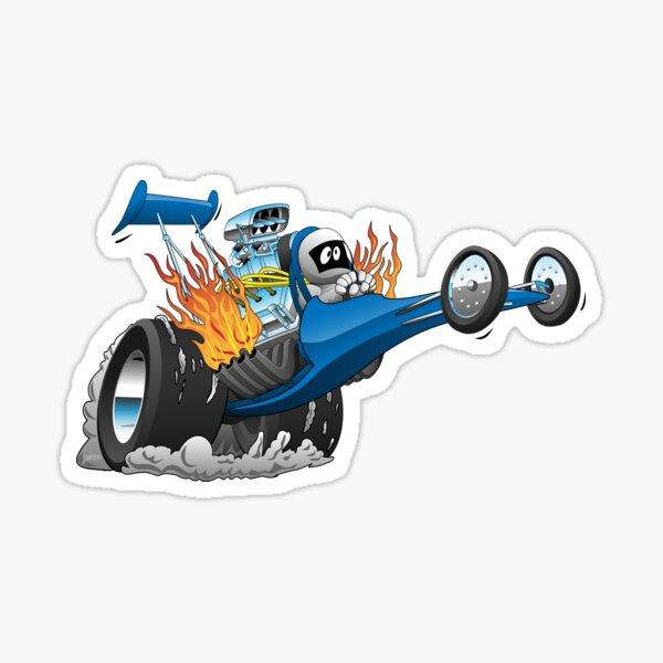 Top Fuel Dragster Cartoon Sticker