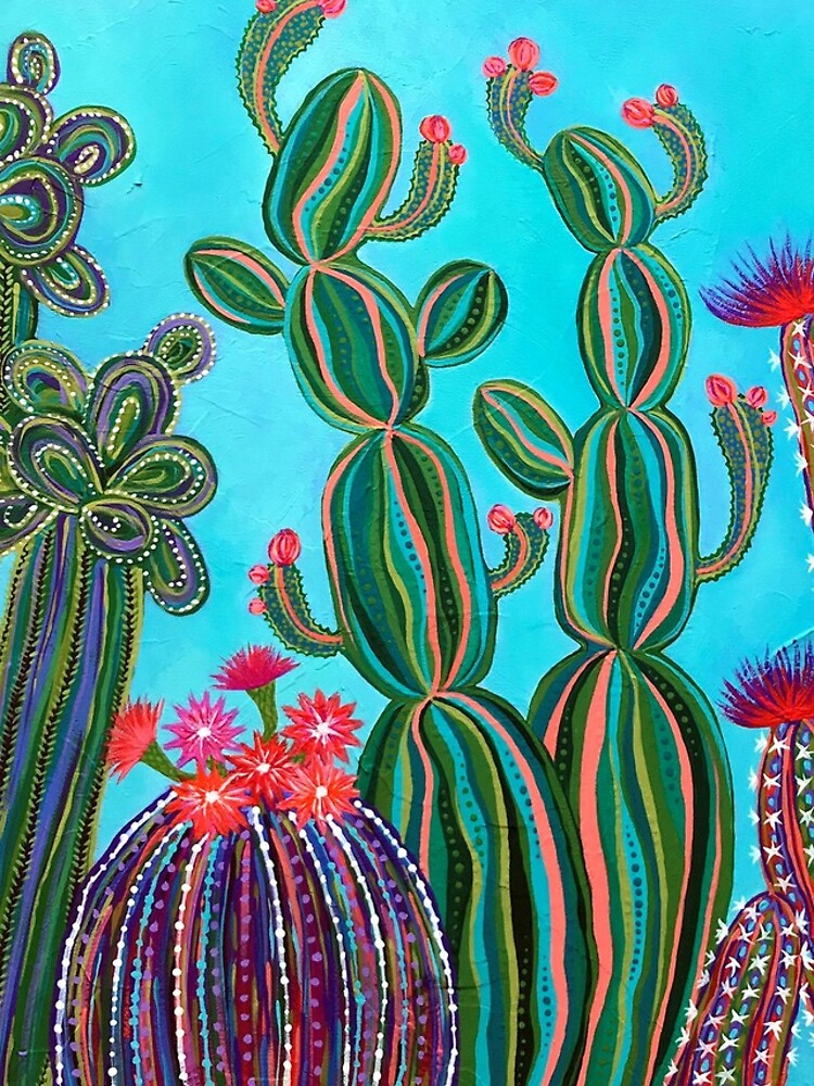 Cactus Party no.1 by Lisafrancesjudd
