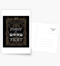 Fight the good fight Postcards