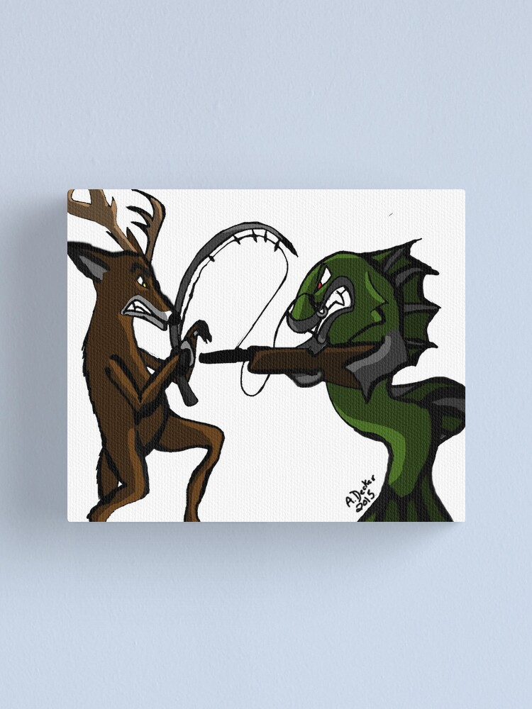 Alternate view of Huntin' an Fishin' Canvas Print