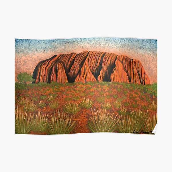 Uluru - Heart of Australia Poster