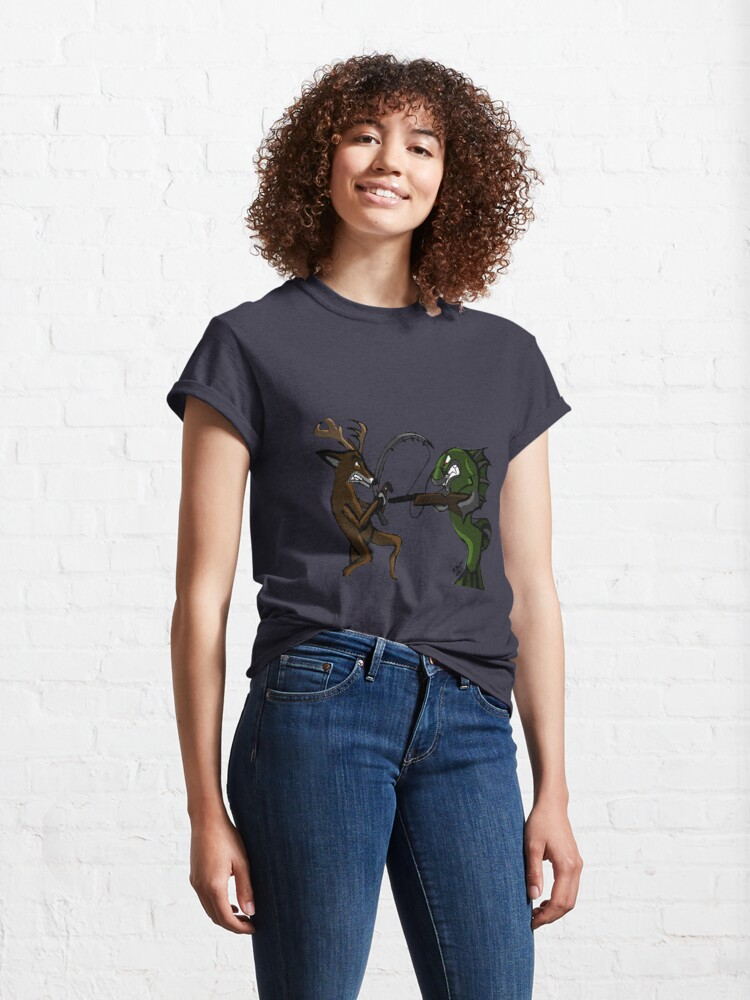 Alternate view of Huntin' an Fishin' Classic T-Shirt