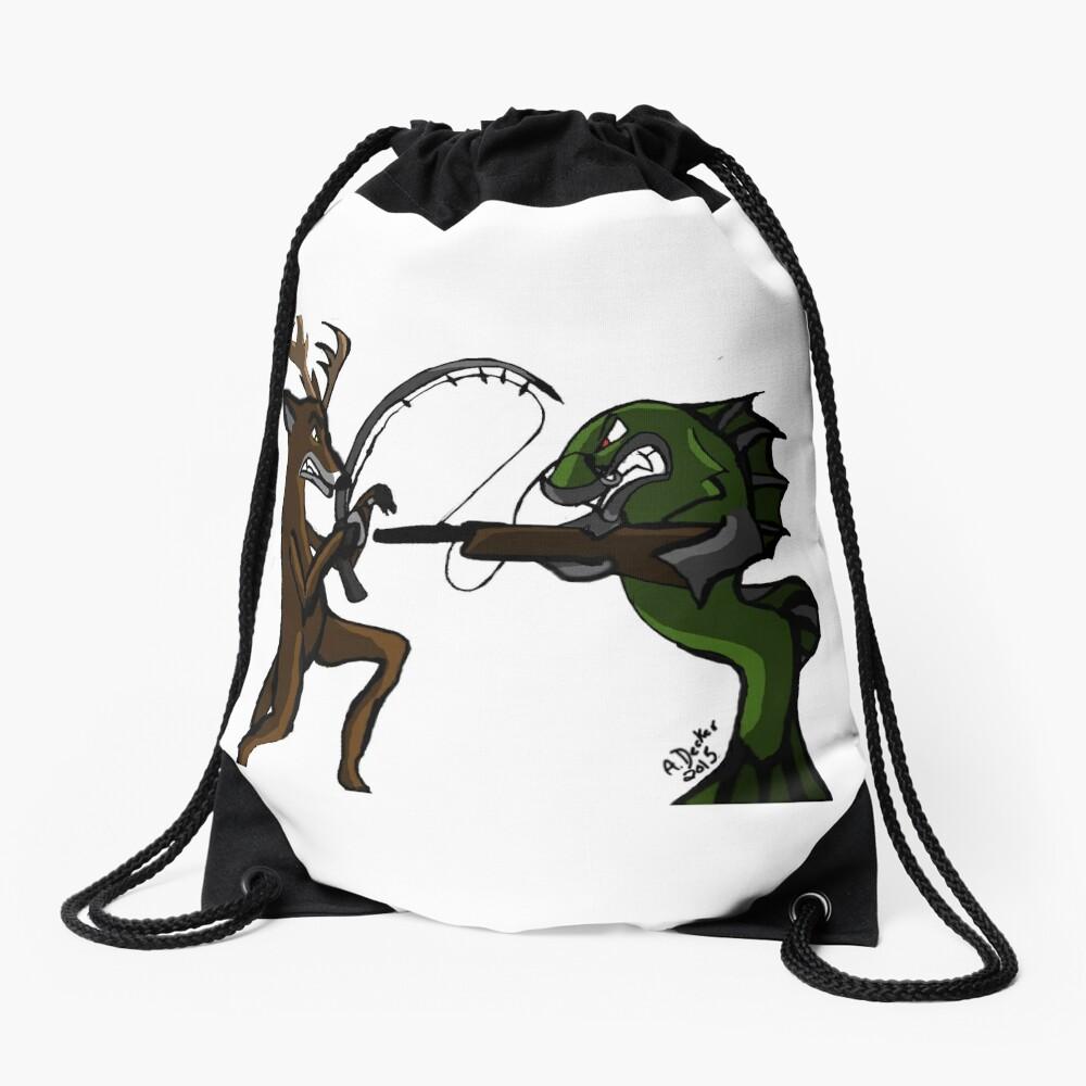 Huntin' an Fishin' Drawstring Bag