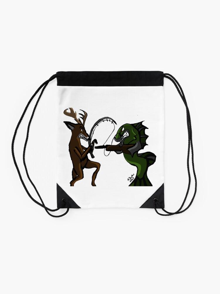 Alternate view of Huntin' an Fishin' Drawstring Bag