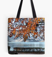 Lake and Golden Leaves Tote Bag