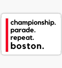Title Town Boston Sticker