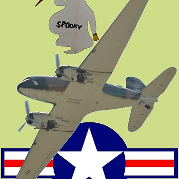 Post WW2 USAF Roundel Douglas Dakota VH-AGU Spooky  by muz2142