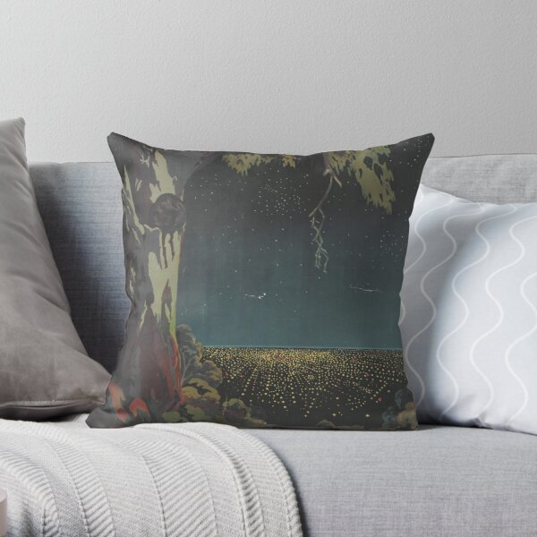 The lights of Adelaide from the Mount Lofty Ranges, circa 1935 Throw Pillow