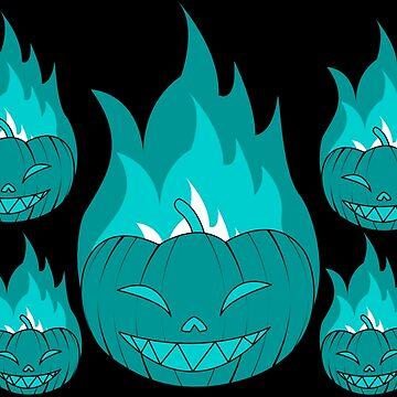 Azure Flame Jack o lantern spirits by davayala93