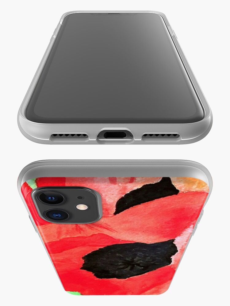 Alternate view of Poppies iPhone Case & Cover