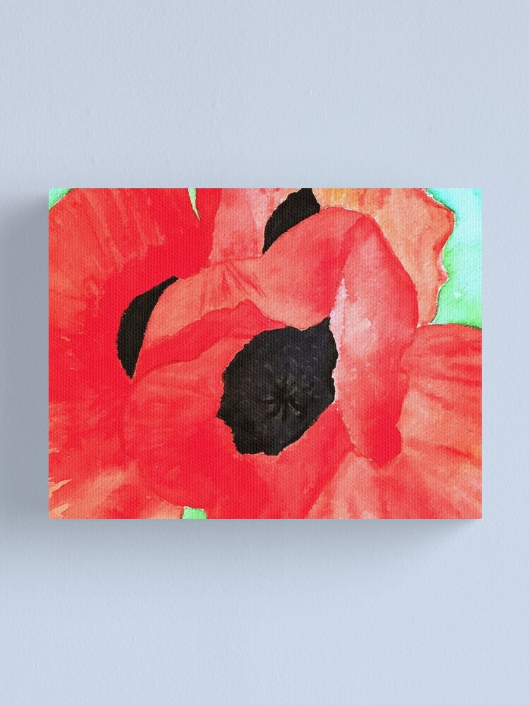 Alternate view of Poppies Canvas Print