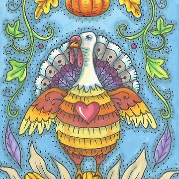 SHADES OF THANKSGIVING.  I enjoyed creating this colorful Thanksgiving Turkey.  Rich vivid Autumn Colors. by SusanBrackArt