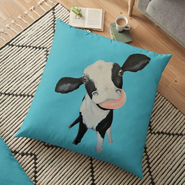 Curious Holstein Calf Floor Pillow