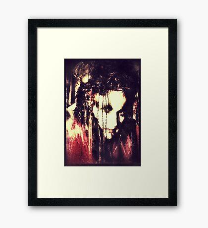 demon lady Framed Print