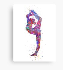 Gymnastics girl, watercolor gymnastics, teen gift, gymnastics wall art Metal Print