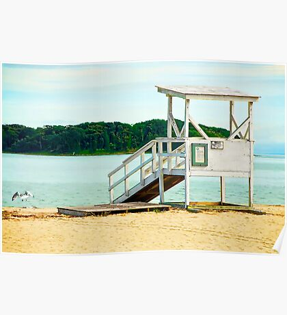 Life Guard Station is Closed Poster