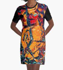 Warm Colors Graphic T-Shirt Dress