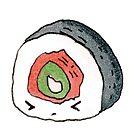 «Futomaki sushi ilustración» de Heleacla
