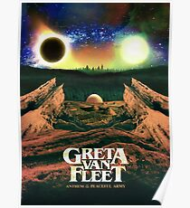 The top saliing Greta Cover new album Van Fleet Anthem of the pecadeful army Poster