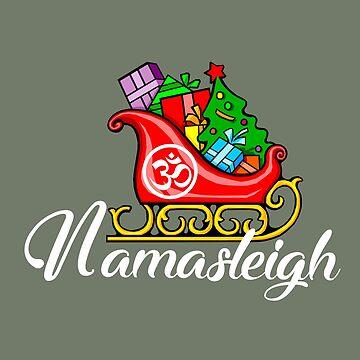 Namasleigh Yoga Christmas design  by JuditR