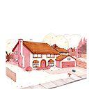 «Fanart casa de los Simpson by heleacla» de Heleacla