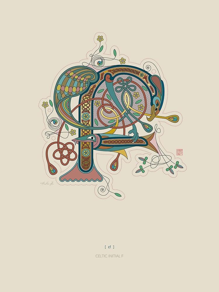 Celtic Initial F by Thoth-Adan