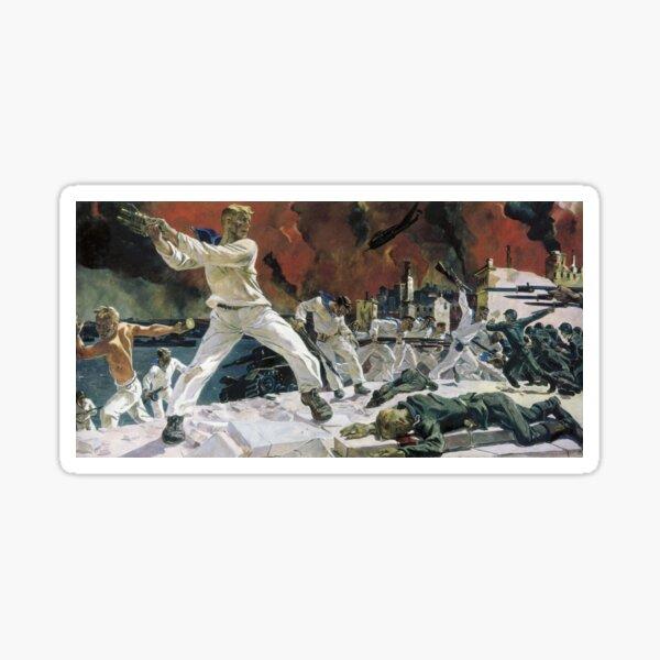 Great Patriotic War: on October 30, 1941, Heroic defense of #Sevastopol was started. The battle for Sevastopol lasted until 4 July 1942. #Crimea #Russia #Крым #Севастополь #Россия #DefenseofSevastopol Sticker