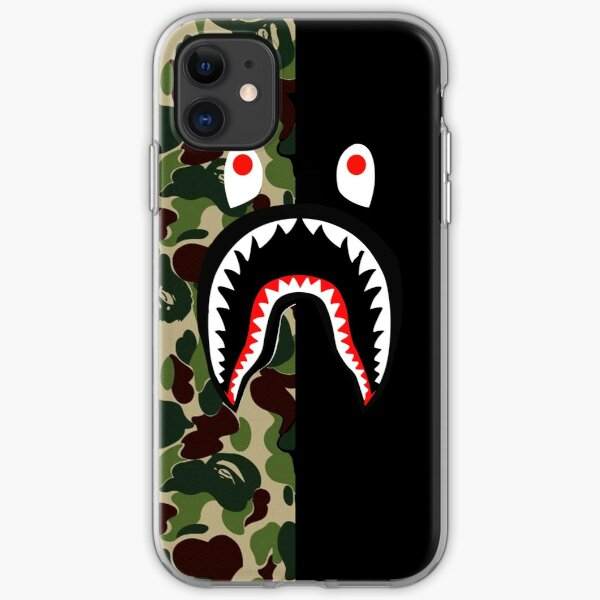 Bape shark black iPhone Soft Case