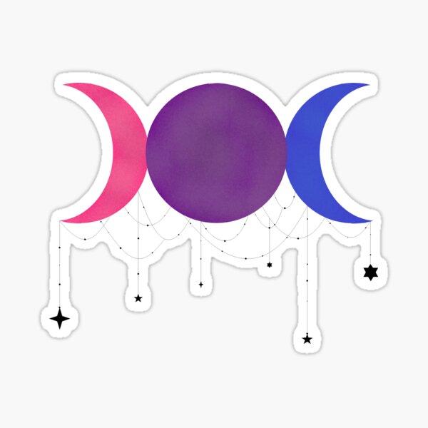 Triple Moon Pride-Bisexual Sticker
