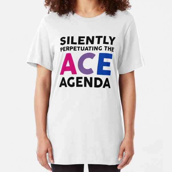 Mad Over Shirts Silently Perpetuating The Ace Agenda Unisex Premium Tank Top