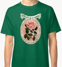 The rose scene from Romeo and Juliet by Shakespeare Classic T-Shirt