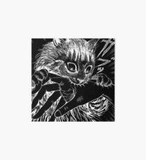 Cat Junji Ito Bite Art Board Print