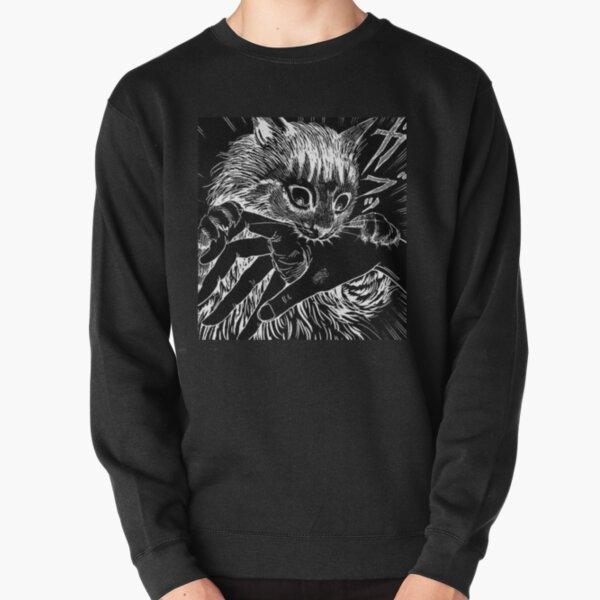 Cat Junji Ito Bite Pullover Sweatshirt