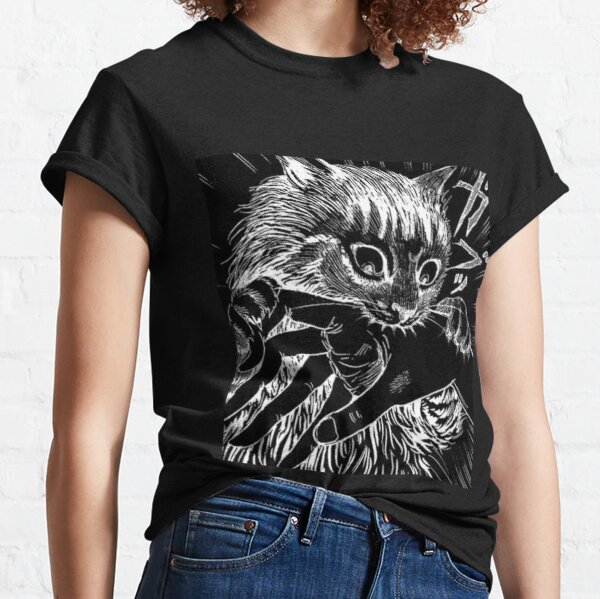 Cat Junji Ito Bite Camiseta clásica