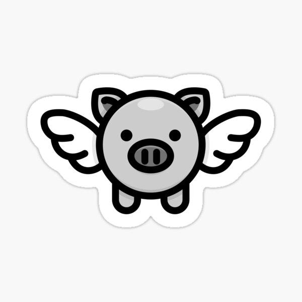 When Pigs Fly: Grey Sticker