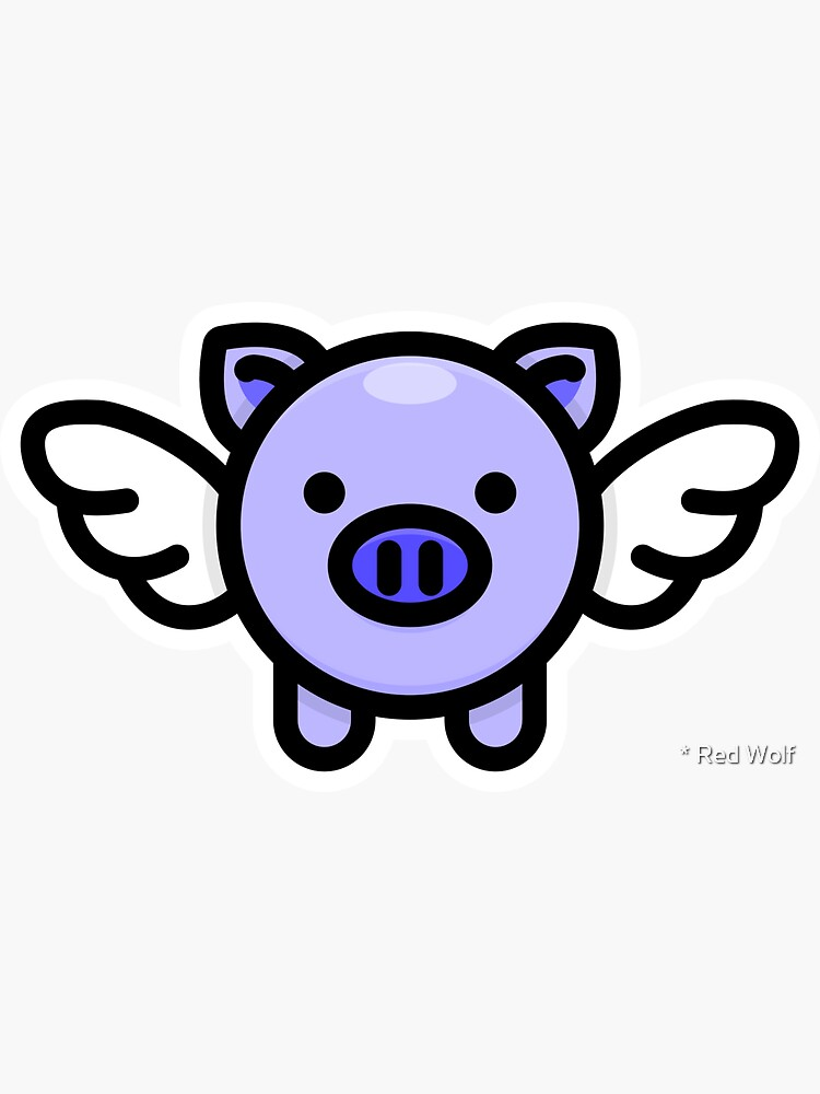 When Pigs Fly: Blue by redwolfoz