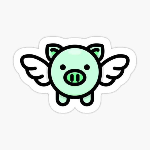 When Pigs Fly: Green Sticker