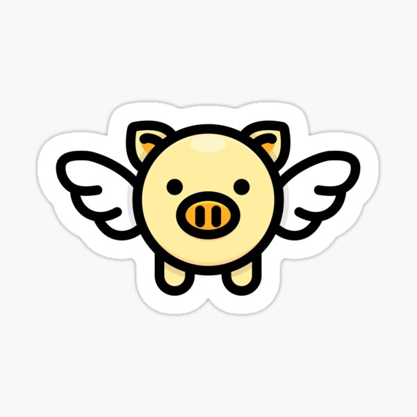 When Pigs Fly: Yellow Sticker