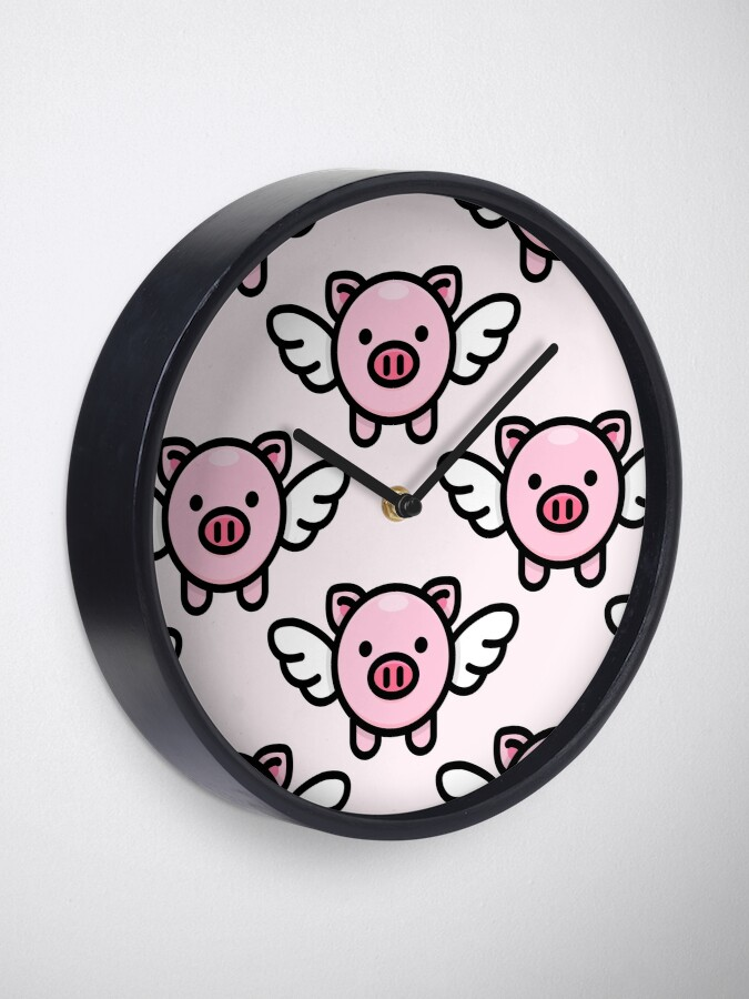 Alternate view of When Pigs Fly: Pink Clock