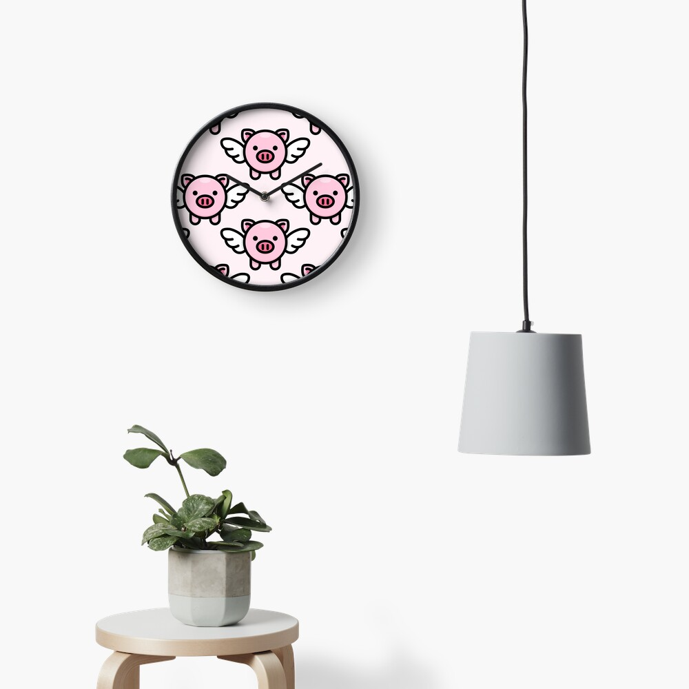 When Pigs Fly: Pink Clock