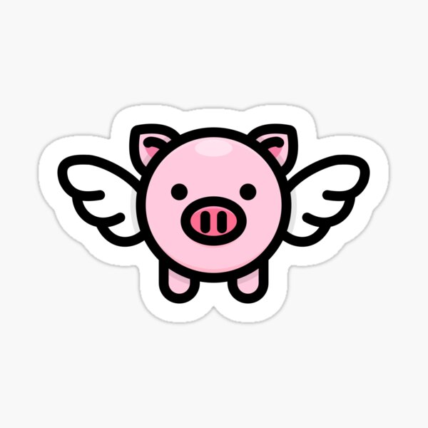When Pigs Fly: Pink Sticker