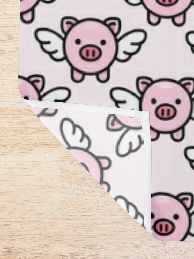 Alternate view of When Pigs Fly: Pink Shower Curtain