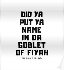 Goblet Poster