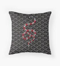 Goyard Snake Throw Pillow