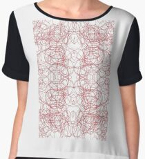 #Abstract #pattern #design #illustration #art #decoration #shape #vector #element #vertical #red #colorimage #copyspace #textured #backgrounds #geometricshape #inarow #textile #retrostyle #nopeople Chiffon Top