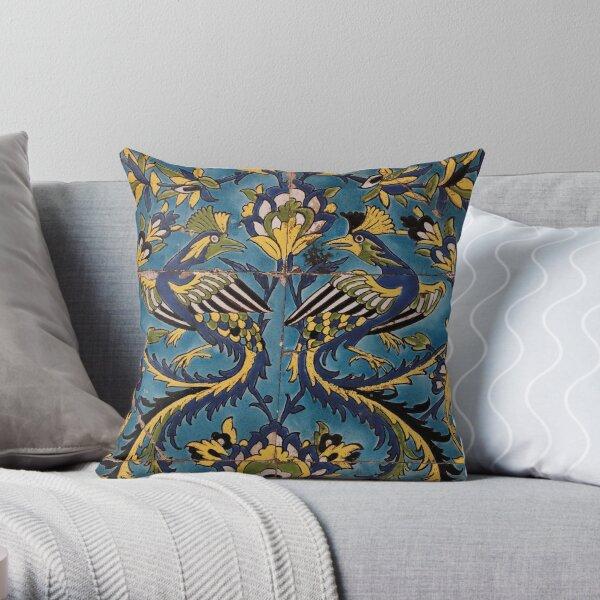 Iranian Birds Throw Pillow