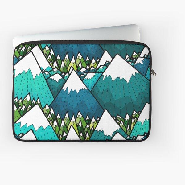 Winter peaks and woods Laptop Sleeve