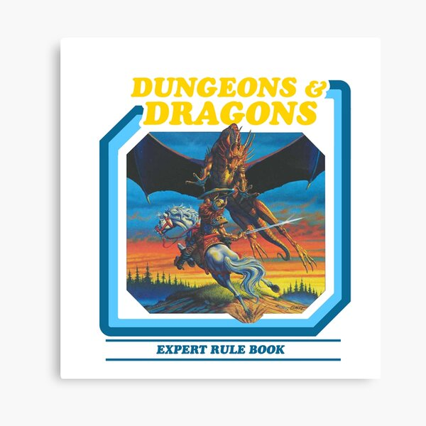 80's Dungeons & Dragons Expert Rule Book Canvas Print