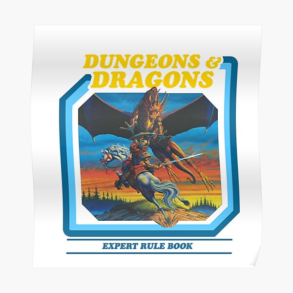 80's Dungeons & Dragons Expert Rule Book Poster