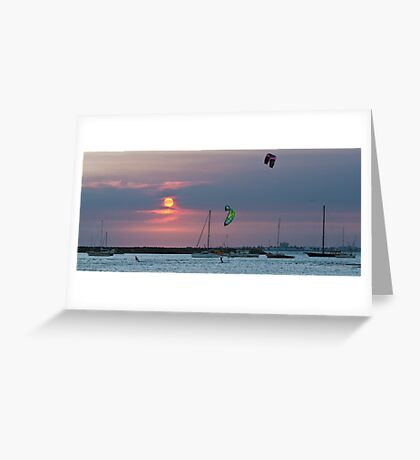 Sunset - St. Kilda - Victoria Greeting Card